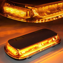 44LED High Intensity Law Enforcement Emergency Hazard Warning Flashing Car Truck Construction LED Top Roof Mini Bar Strobe Light(China)