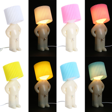 New ABS+Electronic Components MRP Shy Small Table Lamp (Multi-Color Optional) Creative Desktop Light Bed Desk Everywhere Light