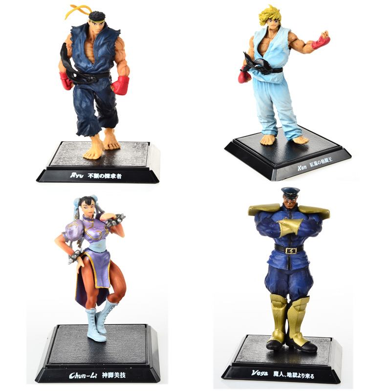 4PCS,BOHS Player Select Street Fighter IV Survival Model Ken Ryu Guile Action Figure Toy<br><br>Aliexpress