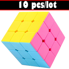 10PCS/lot Magic Cube Rubik 3x3x3 for Kids Smooth Speed Cube Puzzle Toy 3*3*3