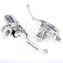 Chrome Handlebar Clutch, Brake Hand Control & Lever Set For 14-16 Harley Touring Street Glide Electra Glide(China)