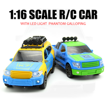 1:16 4CH RC Cars Remote Control Car Battery Powered Cars Model Flashing RC Car Brinquedo Controle Remoto With Radio Controller!!(China)