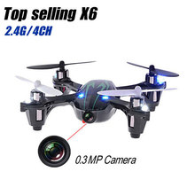 New 0.3MP Camera Drone Top Selling X6 Quadcopter RC VS Hubsan X4 H107C 4CH 2.4G Remote Control Toys RC Helicopter with Camera