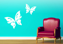 Customized White Elegant Butterfly Wall Sticker For Kids Room Vinyl Wall Decal Decorative On Wall Home Decoration Accessories