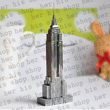 2017 New Chrysler Building Development Of Intelligence Toy 3D Metal Puzzles Earth Laser Cut Model Jigsaws DIY Eiffel Tower gifi