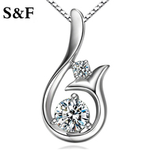 Flower Shape Crystal Necklace Handmade Pendant 2017 News Alloy Girl Women Mermaid Fashion Jewelry charm collier femme New Arrive