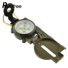 Pocket Military Survival Camping Sighting 360 Lensatic Compass w/Inclinometer 3 in 1 Pointer Pointing Guide Metal Multifunction(China)