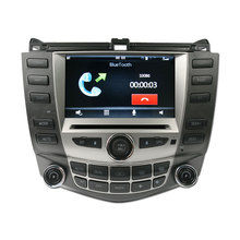 IOKONE Car Video DVD Player GPS for Honda Accord 7 2003 2004 2005 2006 2007 single & dual A/C car Radio Bluetooth SWC Stereo