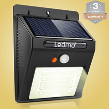 20 Led Solar Led Light Movement Sensor Wall Lamp Outdoor Waterproof Solar Cells Solar Panel Garden Street Led Lamp For Garden(China)