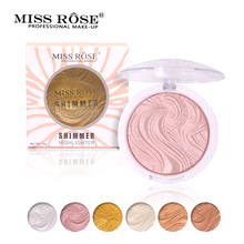 Miss Rose Base Makeup Highlighter Brighten Easy to wear Long Lasting Powder Palette Bronzer Glow kit Concealer(China)