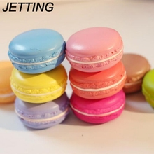 JETTING 1PC Kawaii Soft Dessert Macaron Squishy Cute Cell phone Charms Key Straps random color(China)