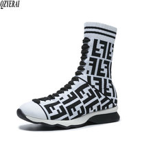 유럽 패션 personalized sock women boots 니트 마원단을 authentic styles 봉 제 안 감 women boots women shoes sizes 34-42(China)