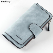 Baellerry Brand Wallet Women Big Capacity Three Fold Lady Purses High Quality Scrub Leather Female Wallets carteira feminina(China)
