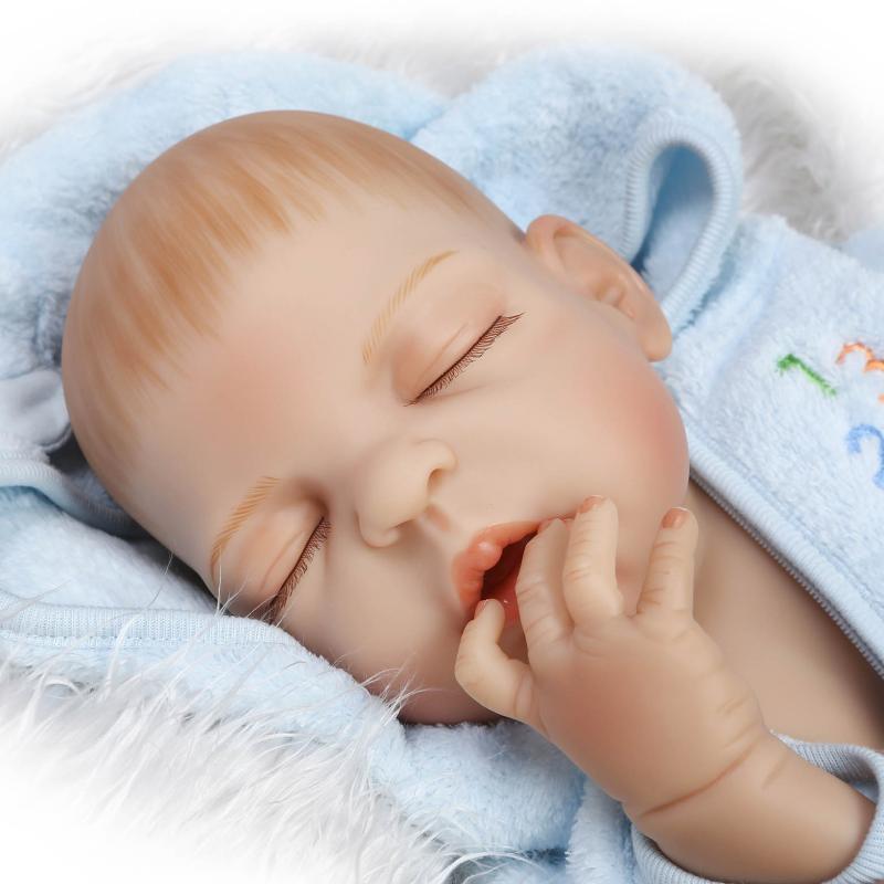 57cm Full body silicone reborn baby doll toy for girl play house newborn bebe boy baby kids child brithday gift bathe shower toy<br><br>Aliexpress