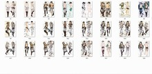 Shingeki no Kyojin characters Eren Yeager Ymir Levi Hannes throw pillow cover Advancing Giants Attack on Titan body Pillowcase