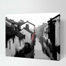diy oil painting Scenery digital paint by numbers diy digital painting drawing practice modular painting(China)