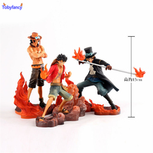 Tobyfancy One Piece Figure Ace Luffy Sabo DXF 150mm Anime One Piece Pvc Figures Toys Japanese Anime One Piece Action Figure