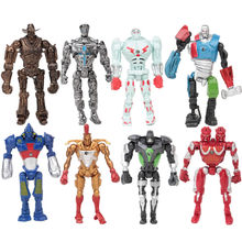 8pcs/set New 2017 Super Hero Movie Action Cool Figure Toys Real Steel Zeus Atom Midas Boys Gift Figures Toys Christmas Gifts New