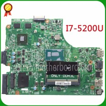 For DELL 3543 DELL 3443 Cedar-Intel-MB 13269-1 PWB FX3MC REV A00 motherboard  I7 cpu GT820 with graphics card freeshipping