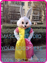 mrs Easter bunny rabbit mascot costume custom fancy costume anime cosplay kit mascotte theme fancy dress carnival costume 41005(China)