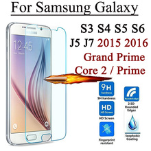2.5D 9H Screen Protector Tempered Glass For Samsung Galaxy Grand Prime Core 2 S3 S4 S5 S6 J5 J5008 J7 J7008 2015 J1 mini 2016(China)