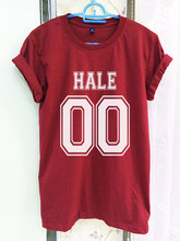 Derek Hale Teen Wolf Shirt Clothing 00 Crimson Red Women Tshirt Tee Short Sleeve T-Shirt-C812(China)