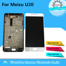"M&Sen LCD screen display+touch panel digitizer with frame For 5.5"" Meizu U20 White/pink/ black Free shipping"