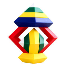 15pcs 30pcs Kids toys Diamond Changeable Building Blocks Magic Tower Pyramid Cube Assembly Educational Toy Toy for Baby Children