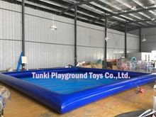 pvc hypalon inflatable water pool for balls and boat 6X8X0.5MTS(China)