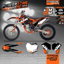 Custom Team Graphics & Backgrounds Decals 3M Stickers Kits Classic KTM SX SXF EXC XCW 125 250 300 450 530 - PowerZone Co.,Ltd store