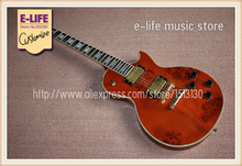 Hot Selling Electric Guitar LP Custom Ebony Fretboard Spalted Maple Grains In Stock For Sale