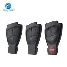 OkeyTech 2/3/4 Button Smart Card Key Remote Car Key Shell Replacement Cover Case Fob Mercedes Benz B C E ML S CLK CL Class