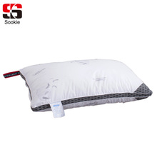Sookie Fashion White Soft Bedding Pillow Feather Pattern Home Decorative Slow Rebound Pillow Neck Health Care Sleeping Pillow(China)