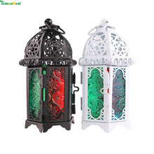 Retro Vintage Metal Wall Hanging Votive Candle Holder Wedding Candlestick Hanging Lantern Home Wedding Decorative Candle(China)