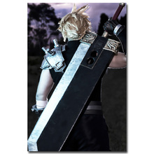 Cloud Strife - Final Fantasy VII Art Silk Fabric Poster Print 13x20 24x36 inch Hot Game Pictures for Living Room Wall Decor 008
