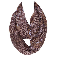 The new autumn and winter long female tiger leopard print voile scarf collars 180*45cms