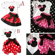 Fashion 2016 New Baby Girls Summer Set Tshirt + Shorts Skirts Kids Suit Cute Toddler Girl Clothes Childrens Clothing Outerwear