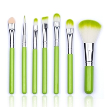 7pcs/Sets 3 Colors Brushes Face Professional Foundation Brushes Eyeshadow Lip Cometics Wholesale(China)