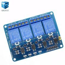 1pcs 4 channel relay module optocoupler. Relay Output 4 way relay module arduino stock