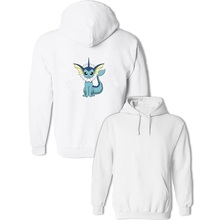 Harajuku Unisex Pokemon Vaporeon Pattern Sweatshirt Women's Girl's Men's Boy's Cotton Hoodies Anime Pullovers Multi Color Coat