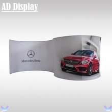 20ft Size Portable Exhibition Easy Tube Display Tension Fabric Semi-Circle Advertising Banner Stand With Printed Graphics