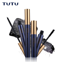 TUTU 2PCS/Set Black Eyes Mascara + Growth In Fiber Eye Makeup Set Natural & Curling Magic Extended Eyelash Mascara Long-lasting(China)
