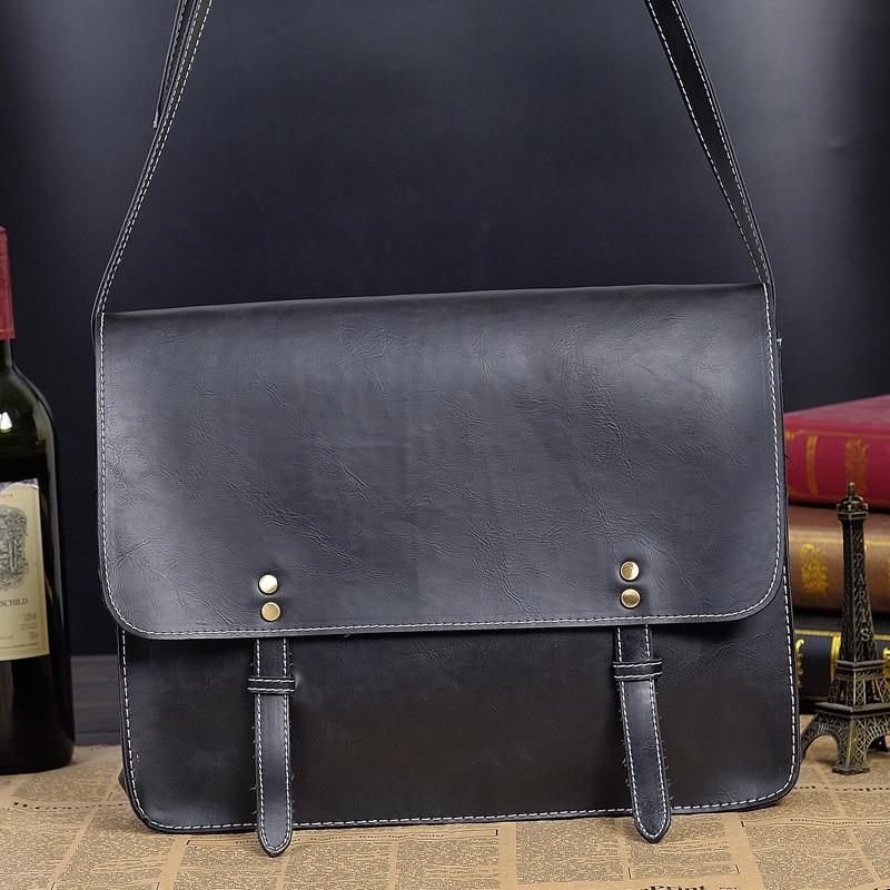 Vintage Mens Leather Briefcase Men Laptop Briefcase  Leather Handbags for Men Shoulder Bags Casual Crossbody Bags 9935<br><br>Aliexpress