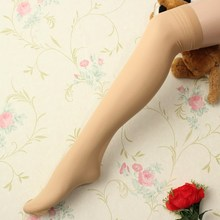 2017 Solid Colors Lady Sexy Lace Polyester Top Mesh Thigh High Stockings Knee Socks Long Tights Pantyhose Medias Summer Style(China)