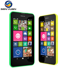"Original Nokia Lumia 630 Cell Phone 4.5"" Windows Phone Quad Core 8GB ROM Dual Sim 3G Lumia 630 Mobile Phone(China)"