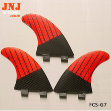 carbon surfboard fins FCS G7 size L fin made of carbon fiber and honeycomb fcs thruster 3pcs a set(China)
