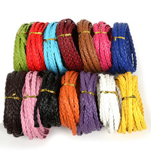 New Arrivals Flat Braide 7mm PU Leather Cord Rope String Faux Leather Cord for DIY Jewelry Necklace Bracelet Craft Making