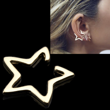 2017 JOVIVI 2pc Ear Cuff Fashion Punk golden silvery Open Star Non-Pierced Cuff Earrings for Women Girls Boucles Bijoux Brincos(China)