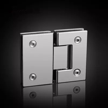 High Quality 180 Degrees open Stainless Steel Wall Mount Glass Shower Door Hinge(China)