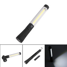 Sanyi Portable COB LED Flashlight Work Light Battery rotate 120 degree Hook Stand Hanging Black Torch Lamp Magnet COB Red light